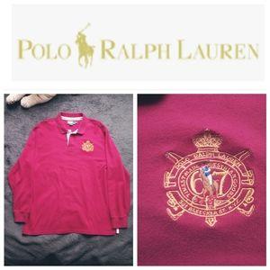 VTG 90's Ralph Lauren 67 Crest w/ pony Rugby polo